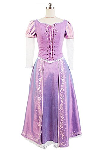 SIDNOR Tangled Halloween Cosplay Costume Princess Rapunzel Dress Ball Gown Outfit -