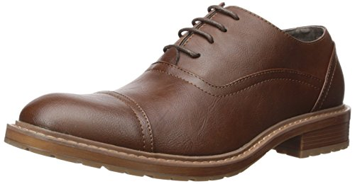 Perry Ellis Men's Jess Oxford, Brown, 10.5 Medium US Eyelet Mens Shoe