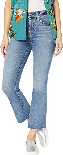 - 7 For All Mankind Women's High Waist Slim Kick Jeans, Canyon Ranch, Blue, 26