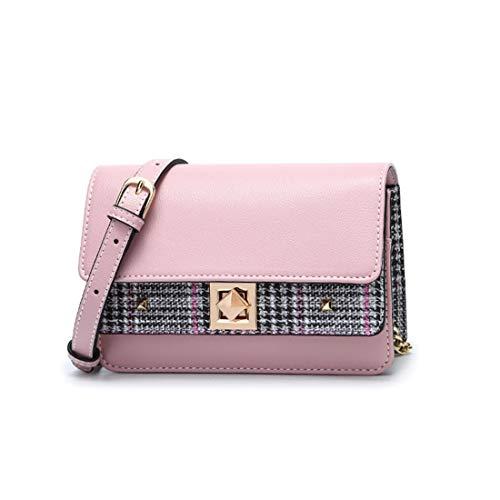 Contraste Bandolera Pequeño Cuadrado Verano Femenino color Color Bolso Kervinfendriyun Pink De Y Primavera Black Yy4 1qxww8TIv