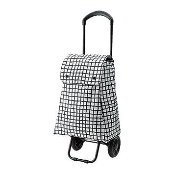 Ikea 18214.11217.28 - Bolsa de la compra con ruedas, color negro y blanco: Amazon.es: Hogar