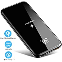 Wireless Portable Charger, Hokonui 10000mAh 10W Fast Qi...
