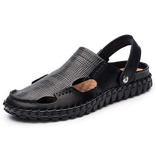 Baotou spiaggia Sport 43 Nero aria estate traspirante all' Sandal degli aperta uomini Sconosciuto scarpe marrone casual Marchant cinghia degli regolabile Pelle viaggio in pUqzf1x