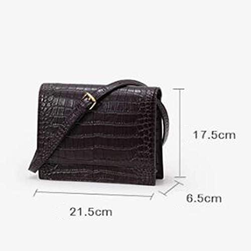 LXDDJsl Borsa Donna Modello del Coccodrillo di Cuoio delle Donne di Disegno di minoranza Retro Piccolo Quadrato Spalle diagonali Ins Vento Female Bag Borse Tote