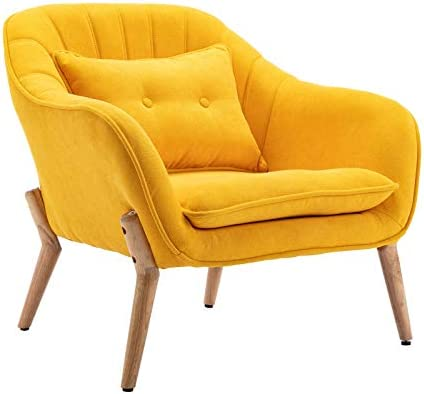 Guyou Fabric Upholstered Armchair Accent Chair