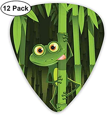 Guitar Picks 12-Pack,Funny Illustration Of Friendly Fun Frog On ...
