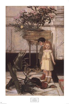The Broken Flower Pot, 1876 Art Poster Print Jan c. Verhas