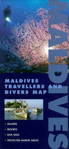 Maldives Travellers and Divers Map...