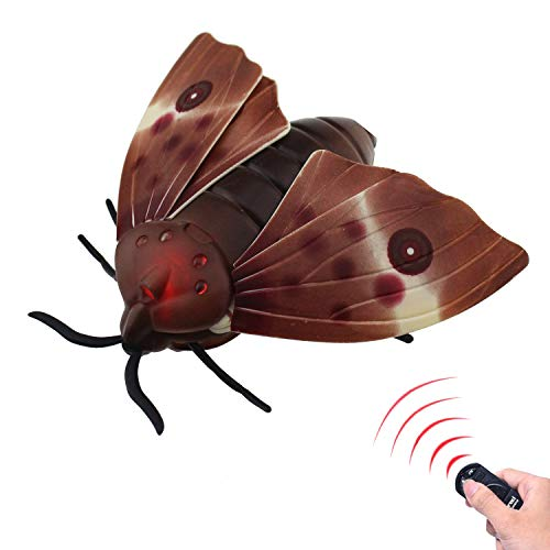 Tipmant RC Moth Animal Toy Remote Controlled Car Vehicle Electric Insect Kids Toys Gifts for Birthday Christmas Halloween from Tipmant
