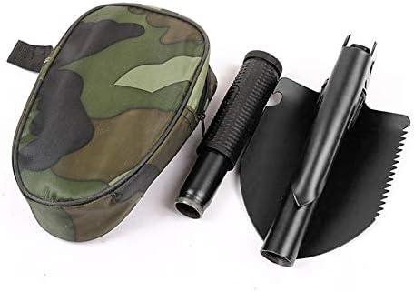 ArgoBear Militär-Klappschaufel Multifunktions-Klappspaten-Mini-Grabenschaufel mit Tragetasche für Survival Camping Outdoor