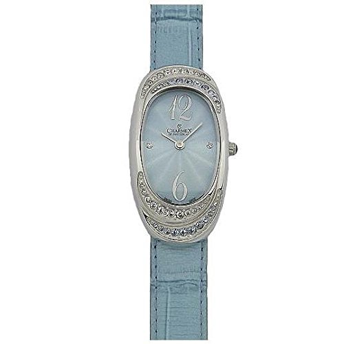 Charmex L's Strap Watch 5788 47mm Stainless Steel Case Blue Calfskin Synthetic Sapphire Women's Watch