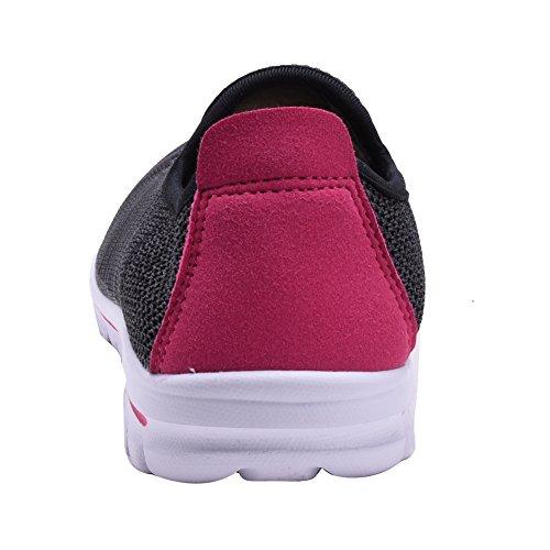 COODO - Zapatillas de running para mujer CD8007 BLACK/FUCH