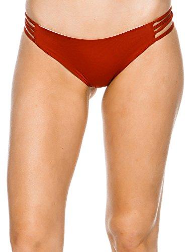 New L Space Women's Low Down Reversible Bikini Bottom Nylon Spandex (Nylon Reversible Bikini)