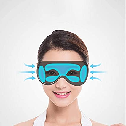 5dd844cd66 Tchin Gafas de Masaje inalámbrico Bluetooth Carga USB sincronización compresa  Caliente Ojo máscara clásico Plegable Instrumento de Masaje (Color :  Blanco): ...