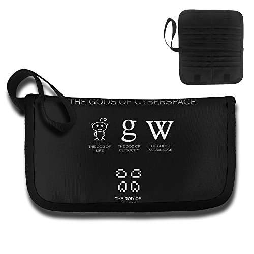 Card Holder Cartoon The Gods Of Cyberspace Graphic Document Organizer Purse Wallet