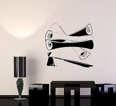 Wall Sticker Literature Parchment Scroll Pen Ink Writing Vin
