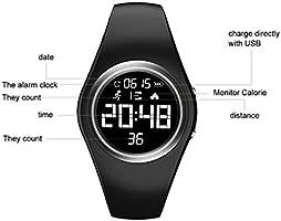RCruning-EU Pulsera Actividad Impermeable IP68 Fitness Smartwatch Tracker Contador de Pasos, Contador de Calorías,Distancia niños Mujer Hombre - ...