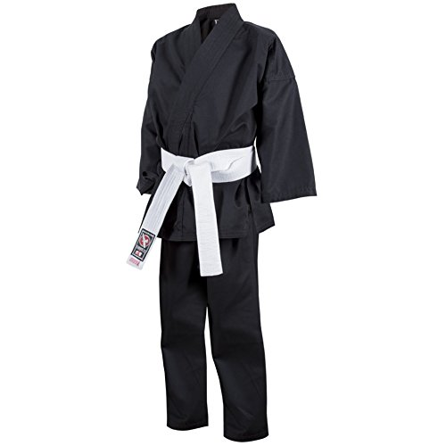 Karate Kid Outfit - Hayabusa Cotton Youth Karate Gi, Black, 1/140