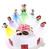 7pcs Cupcake Topper Picks -Disney And Frozen Princess Themed Cupcake Toppers For Kids Party(Anna, Ariel,Cinderella, Elsa, Sofia,Snow White )