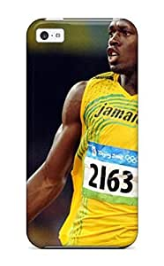 LJF phone case Faddish Phone Usain Bolt Running Case For Iphone 5c / Perfect Case Cover