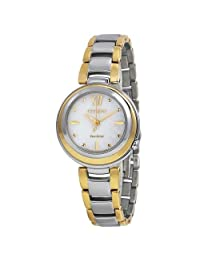 Citizen Eco Drive Sunrise Mother of Pearl Dial Two-tone Ladies Watch EM0337-56D