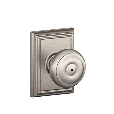 Schlage F40GEO619ADD Addison Collection Georgian Privacy Knob, Satin Nickel - Privacy Door Set
