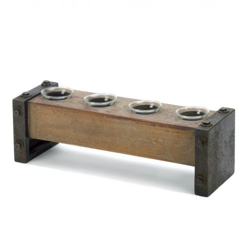 Home Locomotion Medieval Wooden Tealight Candle Holder
