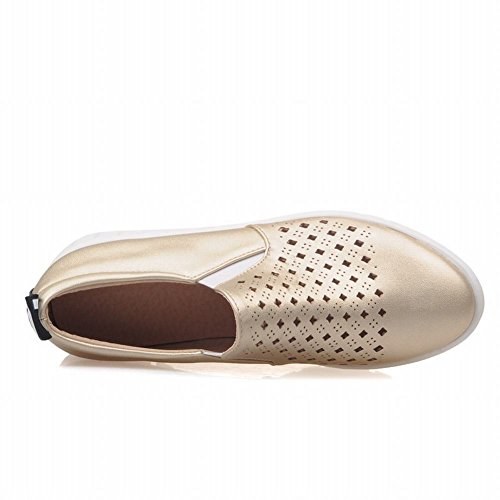Latasa Kvinna Mode Ihåliga Ut Brev Print Halka På Loafers, Mode Sneakers Guld