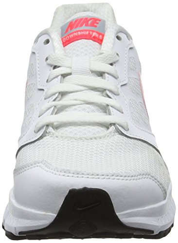 Nike Wmns Downshifter 6, Scarpe da Corsa Donna Bianco (White/Hyper Punch/Light Magnet Grey)