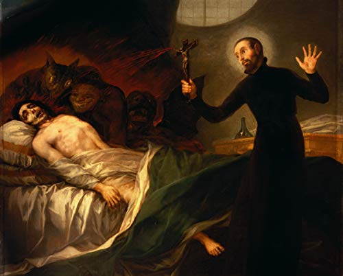 Francisco De Goya Giclee Canvas Print Paintings Poster Reproduction Large Size(St. Francis Borgia Helps The Dying) #DFB