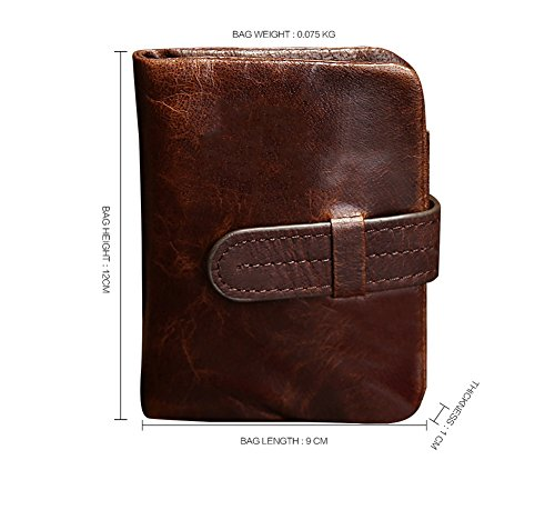 Bi Style amp;W Wax fold Long Leather H Oil Wallet 5S4vBwq
