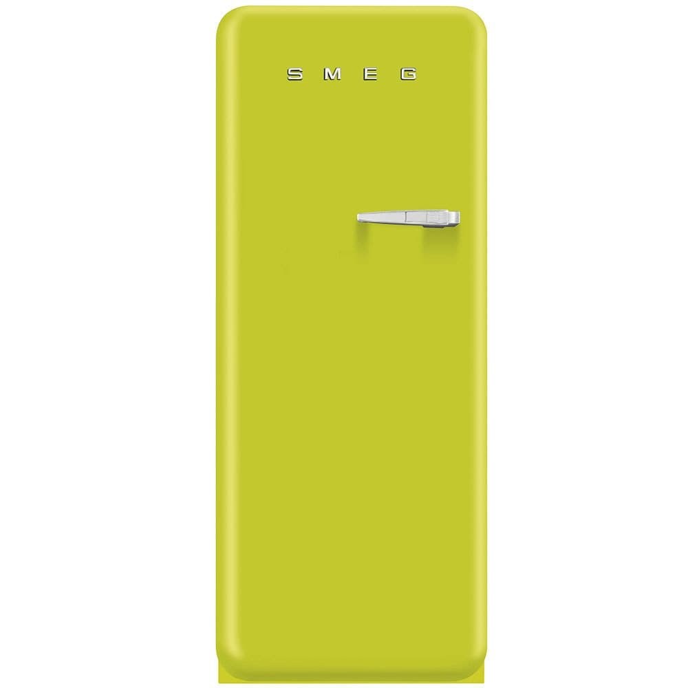 Smeg FAB28ULIL1 50s Style 9.2 Cubic Feet Lime Green Left-hand Refrigerator with Freezer Compartment