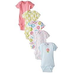 Gerber Baby Girls' 5-Pack Variety Onesies Bodysuits 9