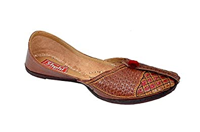 Clothing, Shoes & Accessories Women's Shoes Nice Women Shoes Indian Handmade Jutties Leather Flip-flops Flat Brown Mojari Au 3-6 Ideal Gift For All Occasions
