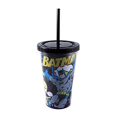 Silver Buffalo BK05087 Batman Comic Pop 16-Ounces Plastic...