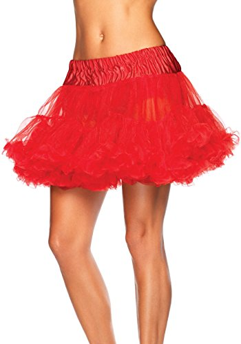 Leg Avenue Women's Petticoat Dress, Red, One Size -