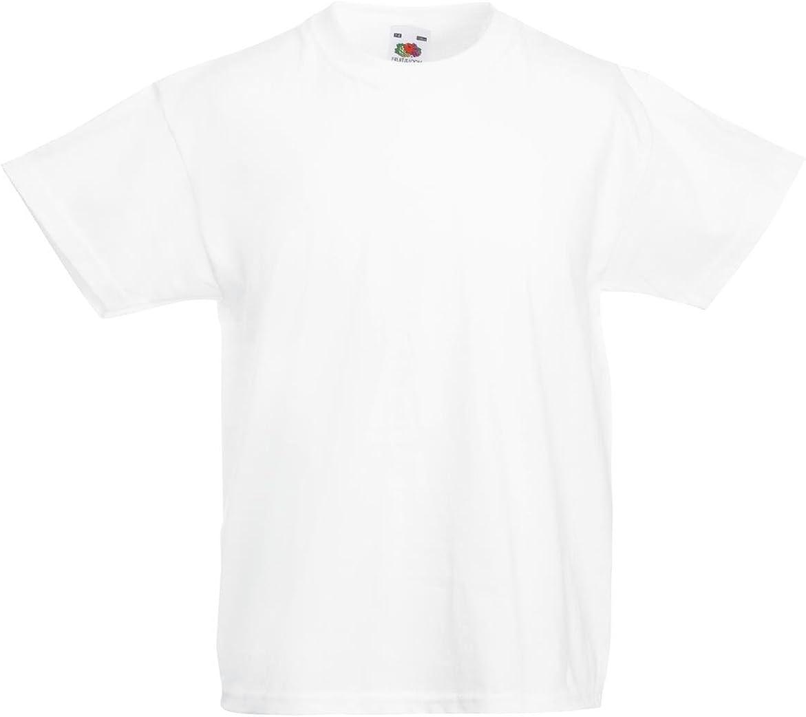 Fruit of the Loom Kids Value Short Sleeve T Shirt White 7-8