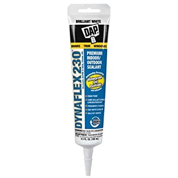Dap 18285 Dynaflex 230 Premium Indoor Outdoor Sealant with 5.5-Ounce Tube, White