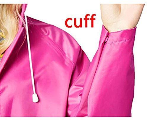 A A Gli Vento Vento Colore Poncho Sezione Adulti Giovane Vento della Escursionismo Pioggia Pink Rosa Alpinismo per Giacca Addensare E M Lunga Amanti Turismo All'Aperto 5fq0W8wq