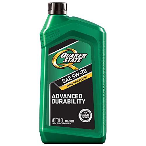 Price comparison product image Quaker State Advanced Durability Conventional 5W-20 Motor Oil (1-Quart,  Case of 6)