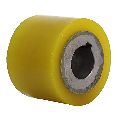 uxcell 80mm x 30mm x 60mm Polyurethane Pinch Roller Rolling Wheel for Woodworker by uxcell