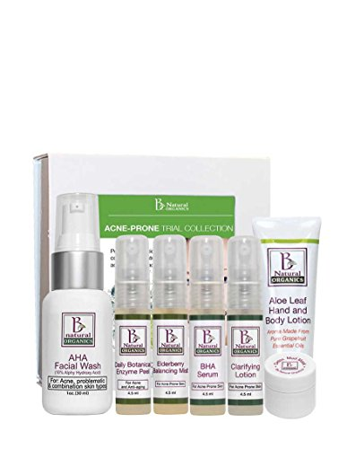 Acne Prone Skin 7 Piece (Be Natural Organics Acne-Prone Trial Gift Collection (7-Piece Skin Care Collection))
