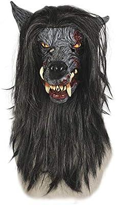 LA Máscara de Lobo con Pelo y máscara de Disfraz: Amazon.es: Hogar
