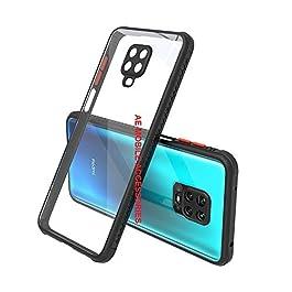 AE Mobile Accessories Back Cover for Redmi Note 9 Pro/Redmi Note 9 Pro Max, Miqilin Series Tranparent Shock Proof Smooth Rubberized Matte Hard Back Cover (Black)