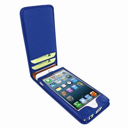 Piel Frama Ledertasche Classic Magnetic RACE Edition Blau/Fuchsia für Apple iPhone 5C
