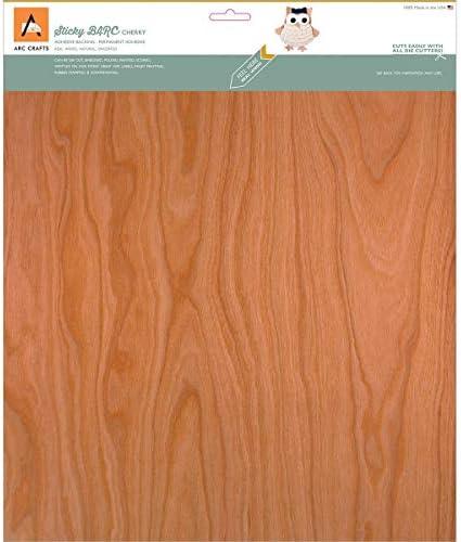 Arc Crafts Barc Madera Hoja w/Adhesivo (30,4 x 30,4 cm Cherry: Amazon.es: Hogar