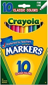 Crayola Marker Classic Color fine line, 10-count (3-Pack)