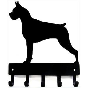 The Metal Peddler Boxer Dog - Key Hooks & Holder Small 6 inch Wide 9