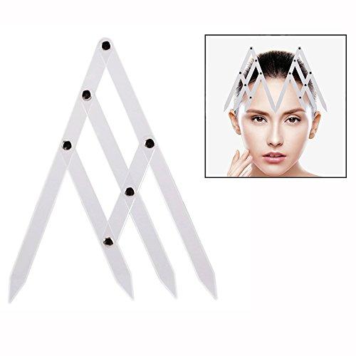 OFKPO Eyebrow Ruler Eyebrow Grooming Stencil Shaper Makeup Tattoo Measuring Tool Makeup Ruler