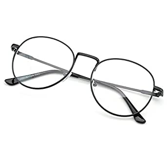Amazon.com: PenSee Oval Classic Retro Metal Frame Clear